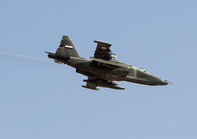 Um jato iraquiano modelo Sukhoi Su-25