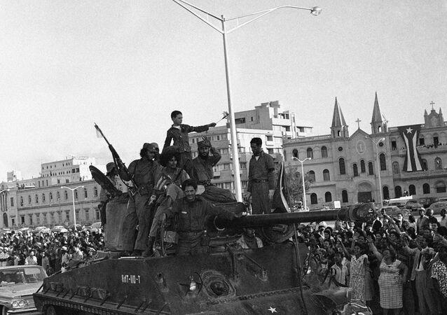 Entrada de Fidel Castro em Havana na caravana da vitória, 8 de janeiro de 1959