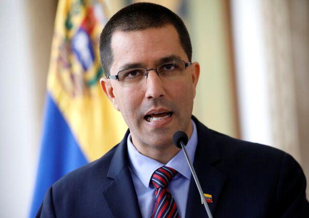 Jorge Arreaza, ministro das Relações Exteriores da Venezuela, em 12 de agosto de 2017