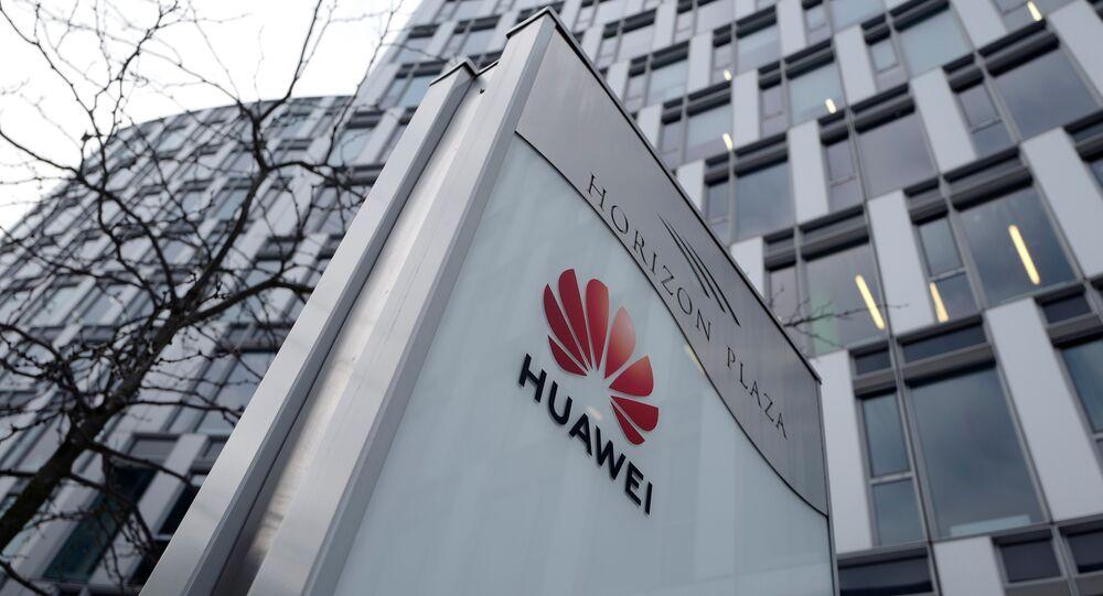 Escritório da Huawei na Polônia.