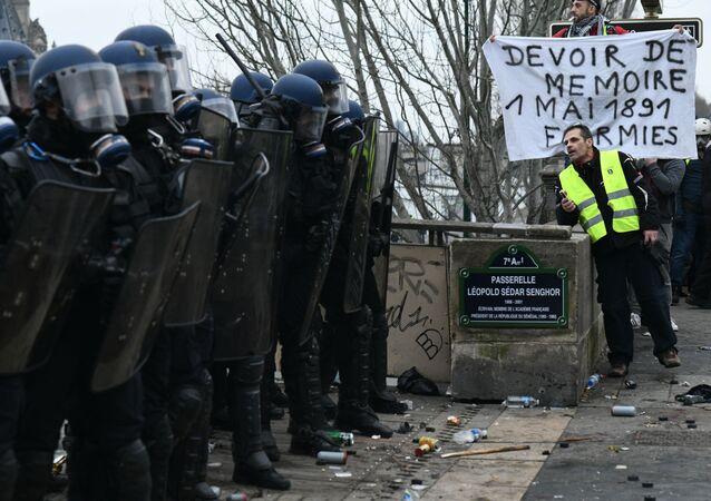 Protestos dos coletes amarelos em Paris (imagem de arquivo)