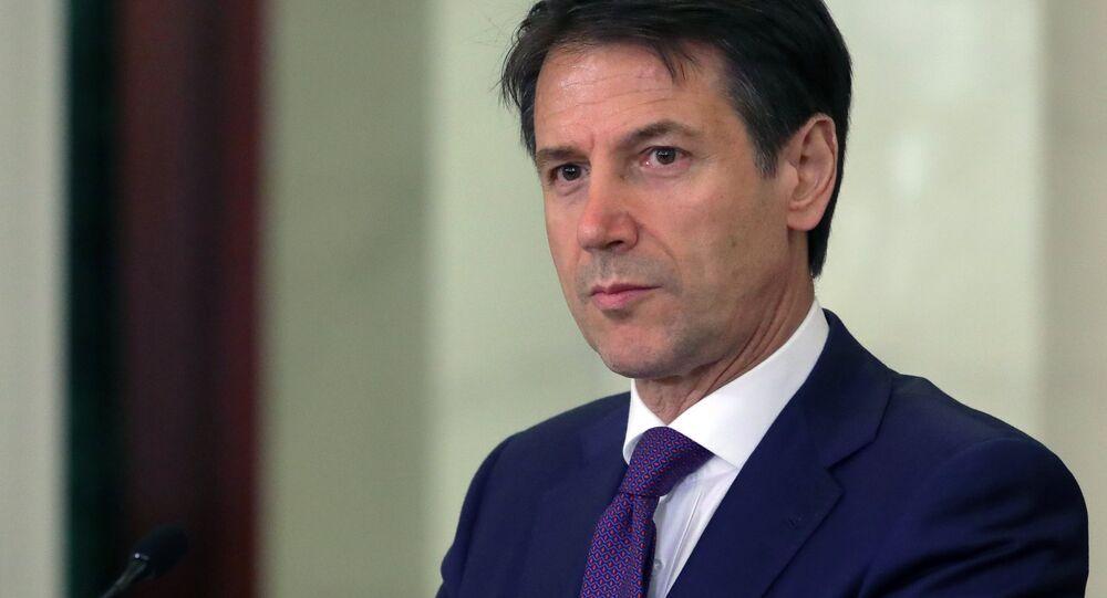 O primeiro-ministro italiano Giuseppe Conte