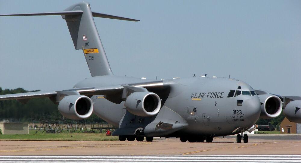 Avião C17A da Força Aérea dos EUA