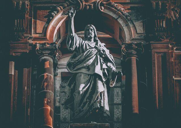 Escultura de Jesus Cristo (imagem de arquivo)