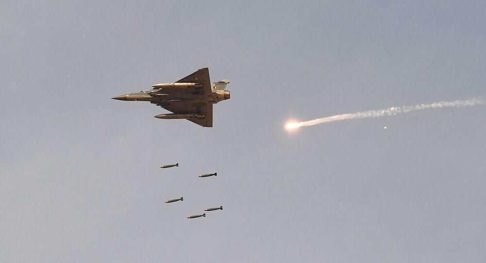 Caça Mirage 2000 da Força Aérea da Índia