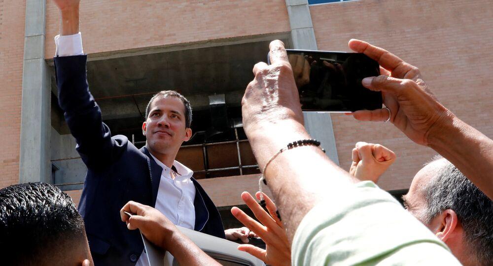 Juan Guaidó, opositor venezuelano, chega a Caracas