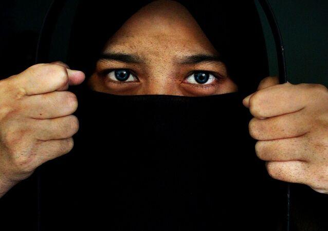 Mulher usando hijab