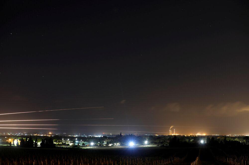 Lançamento de foguetes da Faixa de Gaza contra Israel