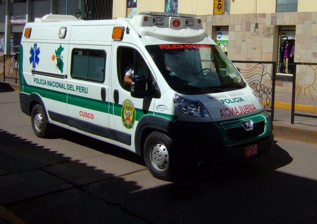 Ambulância da Polícia Nacional do Peru (imagem referencial)