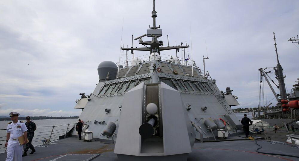Navio da Marinha norte-americana no mar da China Meridional