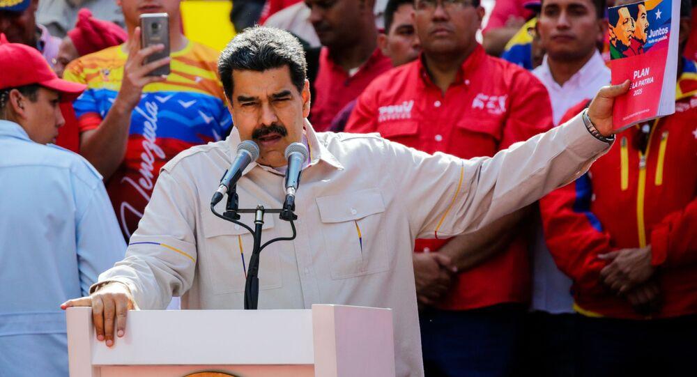 Presidente venezuelano, Nicolás Maduro, em Caracas