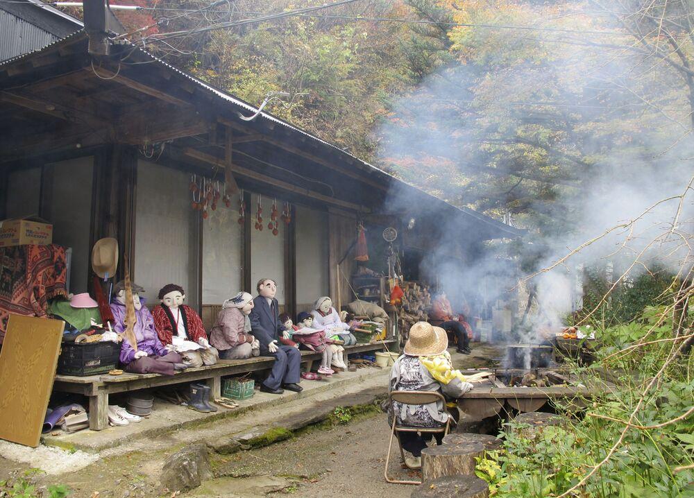 Vila Nagoro, localizada na ilha japonesa Shikoku