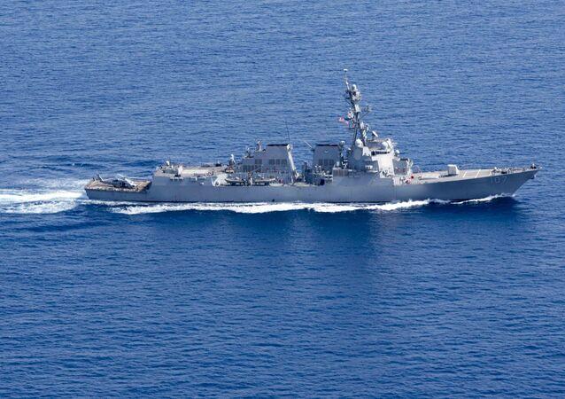 Destróier USS Gravely (foto de arquivo)
