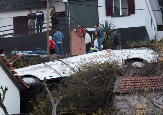 Acidente de ônibus na ilha da Madeira, em Portugal