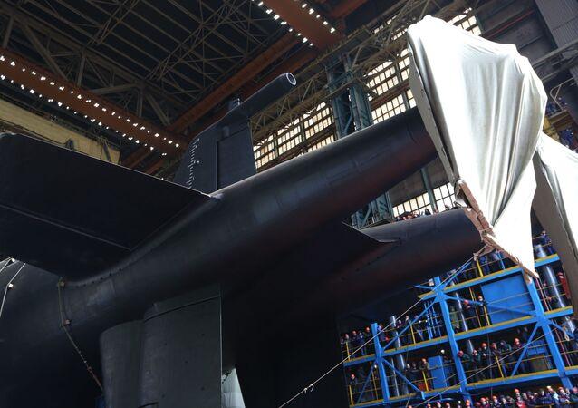 Submarino russo Belgorod, lançado à água em 23 de abril de 2019 ano