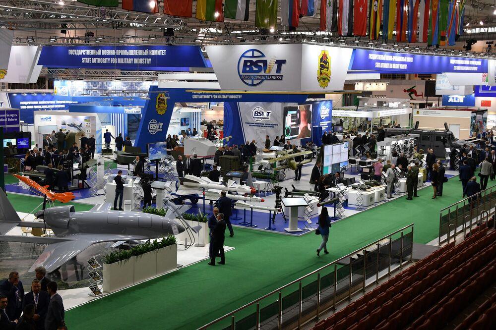 Exposição internacional de armamento e equipamento militar MILEX 2019 vista de cima