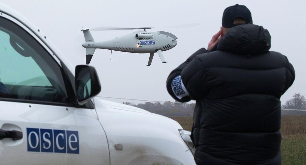 Um drone da OSCE na Ucrânia