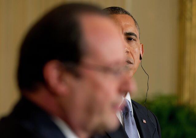 Barack Obama e Francois Hollande 11.02.2014