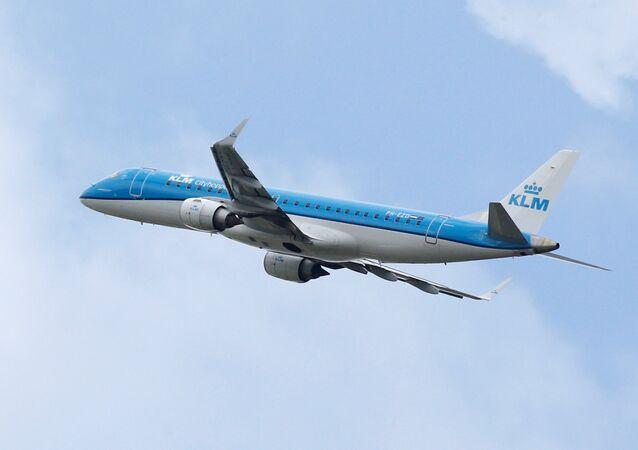 Avião da empresa holandesa KLM (foto de arquivo)