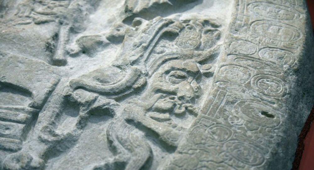 Altar de pedra do norte da Guatemala