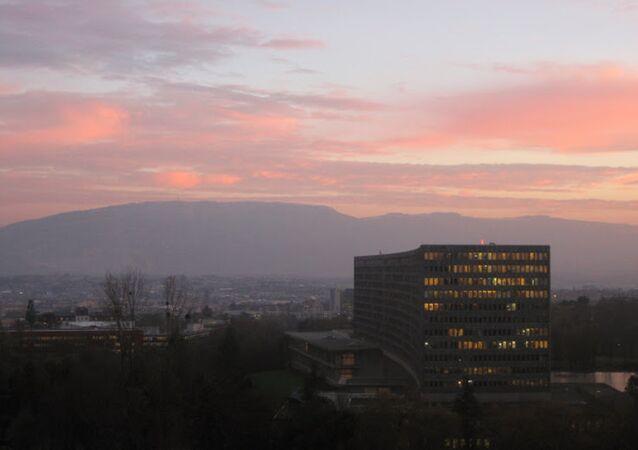 Sede da Organização Internacional do Trabalho (OIT) em Genebra, na Suíça