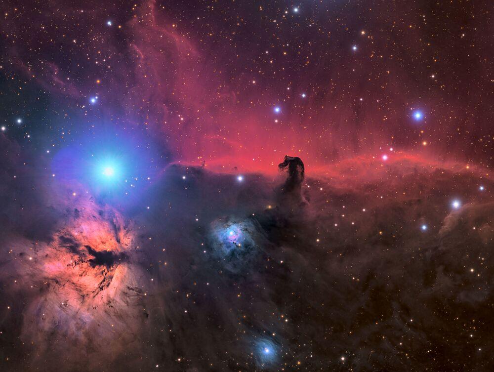 Nebulosa Cabeça e Nebulosa Chama em uma foto de Connor Matherne