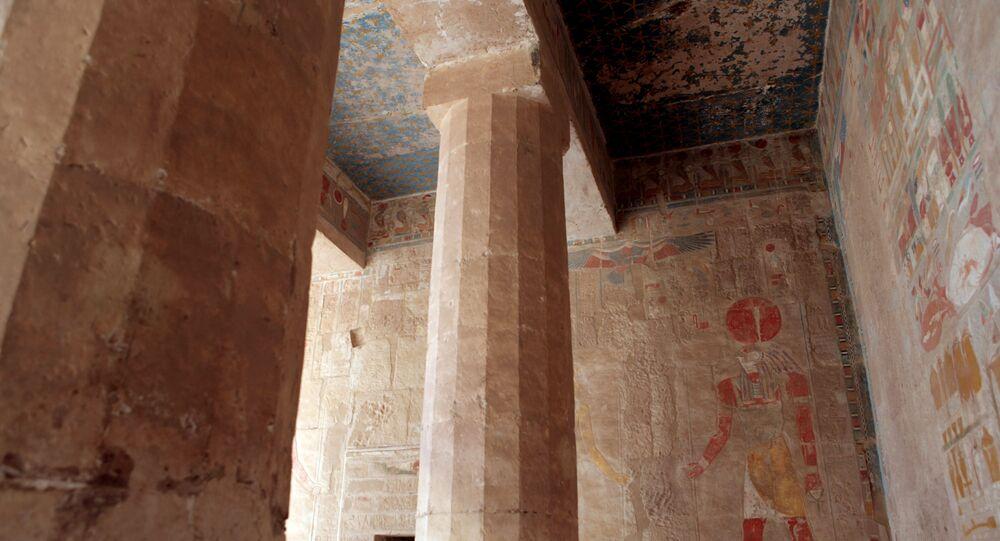 O templo mortuário de Hatexepsute, perto de Luxor