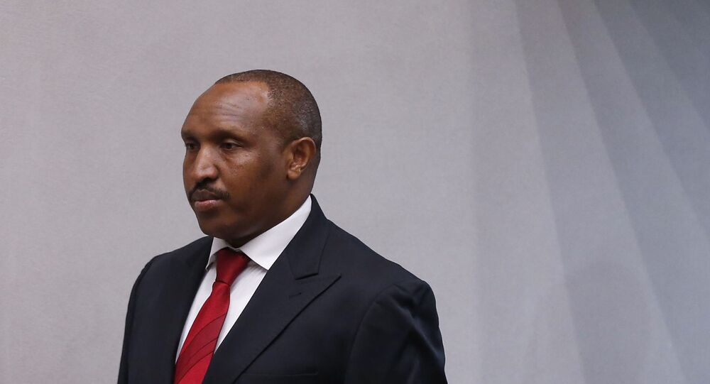 Bosco Ntaganda, ex-líder guerrilheiro da República Democrática do Congo, durante julgamento no Tribunal Penal Internacional