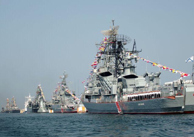 Navio de patrulha Smetlivy da Frota do Mar Negro