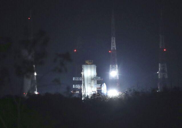 Lançamento da missão lunar indiana Chandrayaan-2, 15 de julho de 2019 (imagem de arquivo)