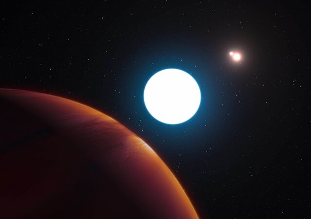 Exoplaneta HD 131399Ab, girando ao redor de três sois. 7 de Julho de 2016
