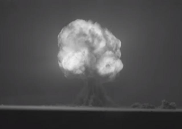 Explosão da Trinity, a primeira bomba nuclear (foto de arquivo)