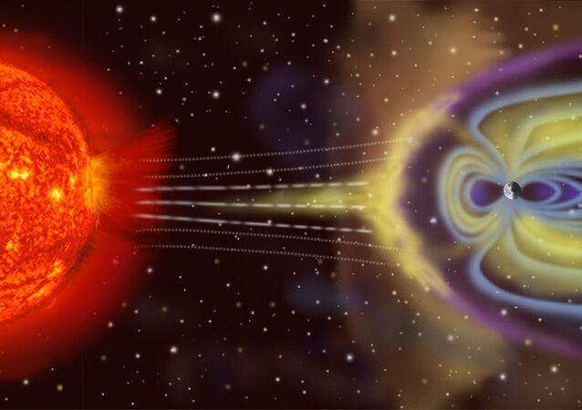 Campo magnético  (ilustração)