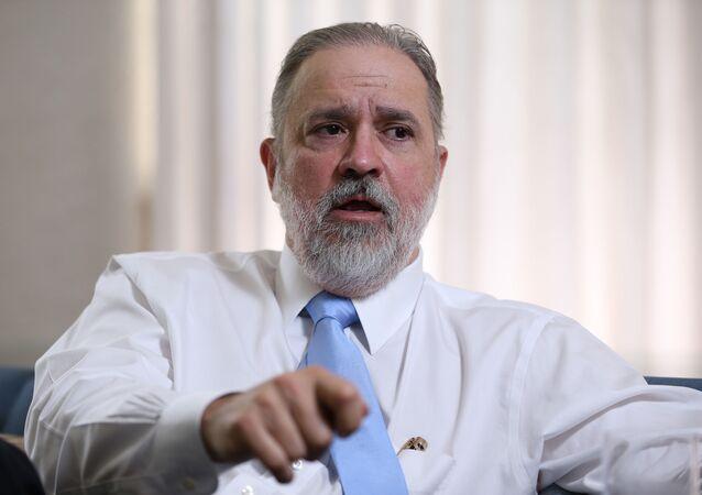 O então subprocurador-geral da República Augusto Aras, durante entrevista à Folha em Brasília, em abril de 2019