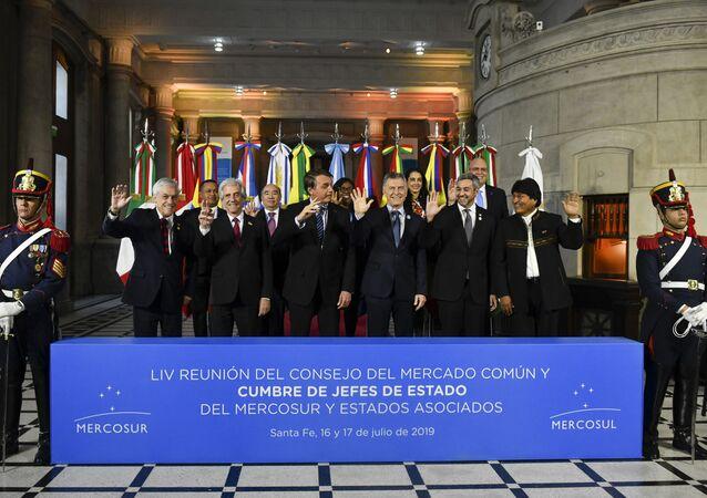 Reunião dos líderes do Mercosul na Argentina em 2019
