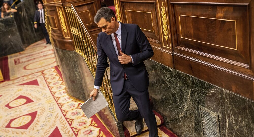 O presidente do governo da Espanha Pedro Sánchez.