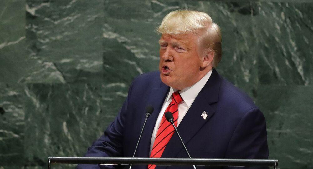 Presidente dos EUA, Donald Trump discursa na Assembleia Geral da ONU em Nova York