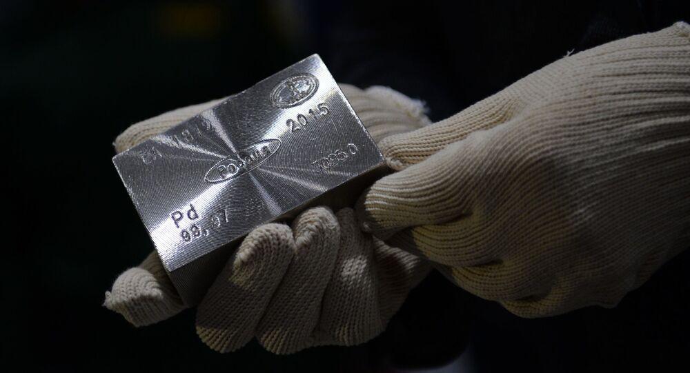 Metal paládio comercializado no mercado de commodities (foto referencial)