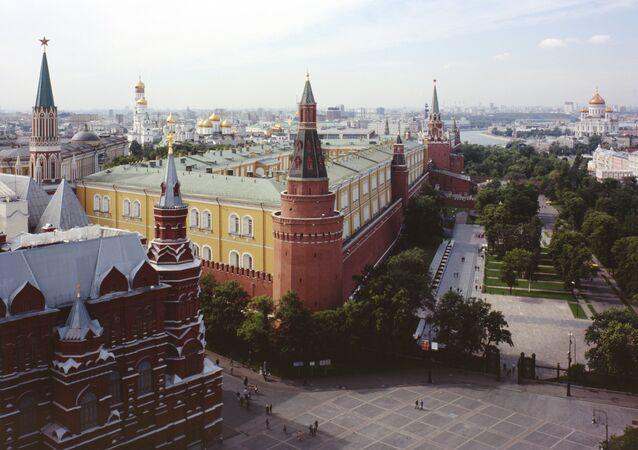 Vista do Krémlin de Moscou, centro da cidade (foto de arquivo)