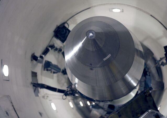 Imagem de ogiva nuclear norte-americana instalada no interior do estado de North Dakota