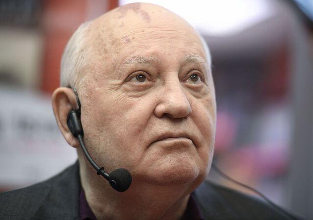 Ex-presidente da União Soviética, Mikhail Gorbachev, durante lançamento de seu último livro, em Moscou,