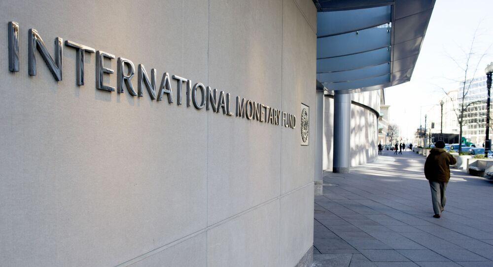 A matriz do Fundo Monetário Internacional (FMI), na capital dos EUA, Washington D.C