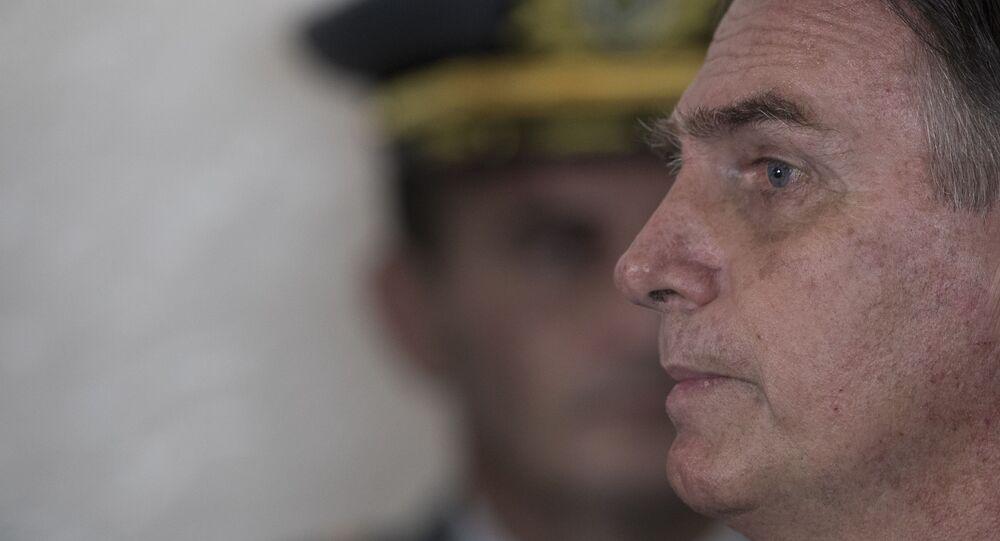 Presidente Jair Bolsonaro durante cerimônia na Academia das Agulhas Negras em Resende (RJ)
