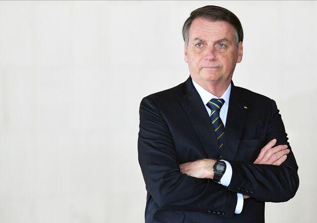 Presidente do Brasil, Jair Bolsonaro, na 11ª cúpula do BRICS