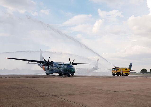 A nova aeronave da Força Aérea Brasileira (FAB), do modelo SC-105, FAB 6551, foi oficialmente incorporada ao 2º/10º Grupo de Aviação, Esquadrão Pelicano