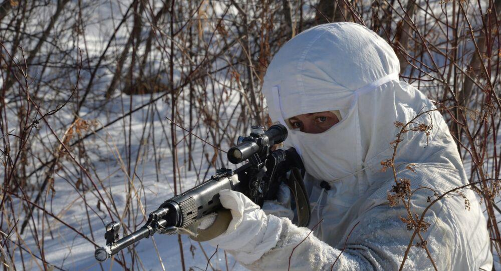 Snaiper russo participa de treinamento do batalhão da frota do Pacífico (foto de arquivo)