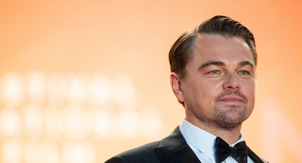 Ator Leonardo DiCaprio durante estreoa do filme Era Uma Vez em Hollywood, no Festival de Cannes, em maio de 2019