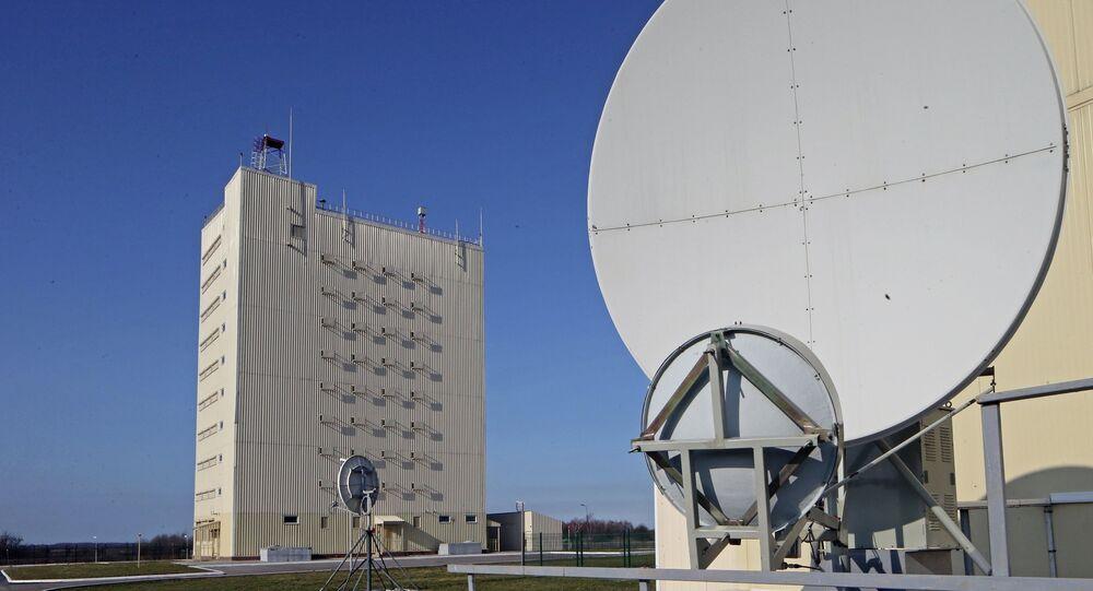 Sistema de radar de classe Voronezh, na região de Kaliningrado, Rússia