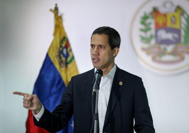 O presidente da Assembleia Nacional da Venezuela, antes da eclosão do escândalo de corrupção, fala em Caracas, em 1 de dezembro de 2019