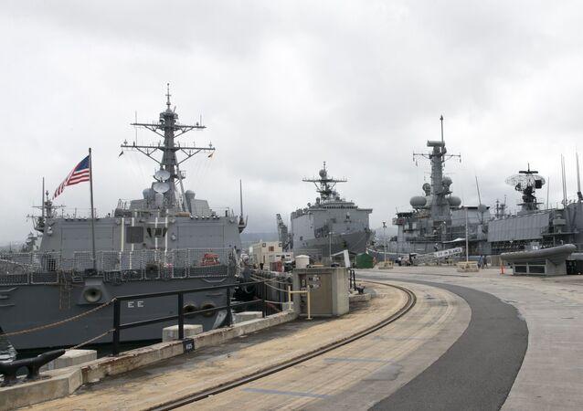 Base naval norte-americana de Pearl Harbor, no Havaí (imagem referencial)